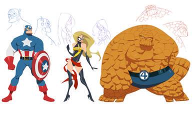 Marvel concept designs by greenestreet