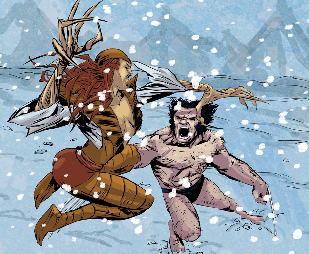 Wolvie VS Lady by greenestreet
