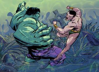 Hulk VS Sub by greenestreet