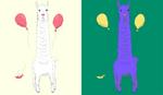 Llama happy, llama down