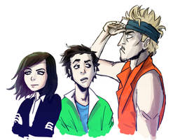 Amy, Dan and Alex by ajcrwl