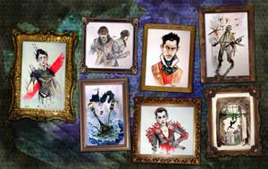 Inktober 2016 Dishonored art dump