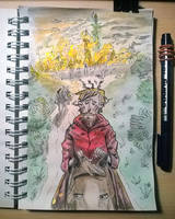 The Colour of Magic - Inktober2018, day 1 by ajcrwl