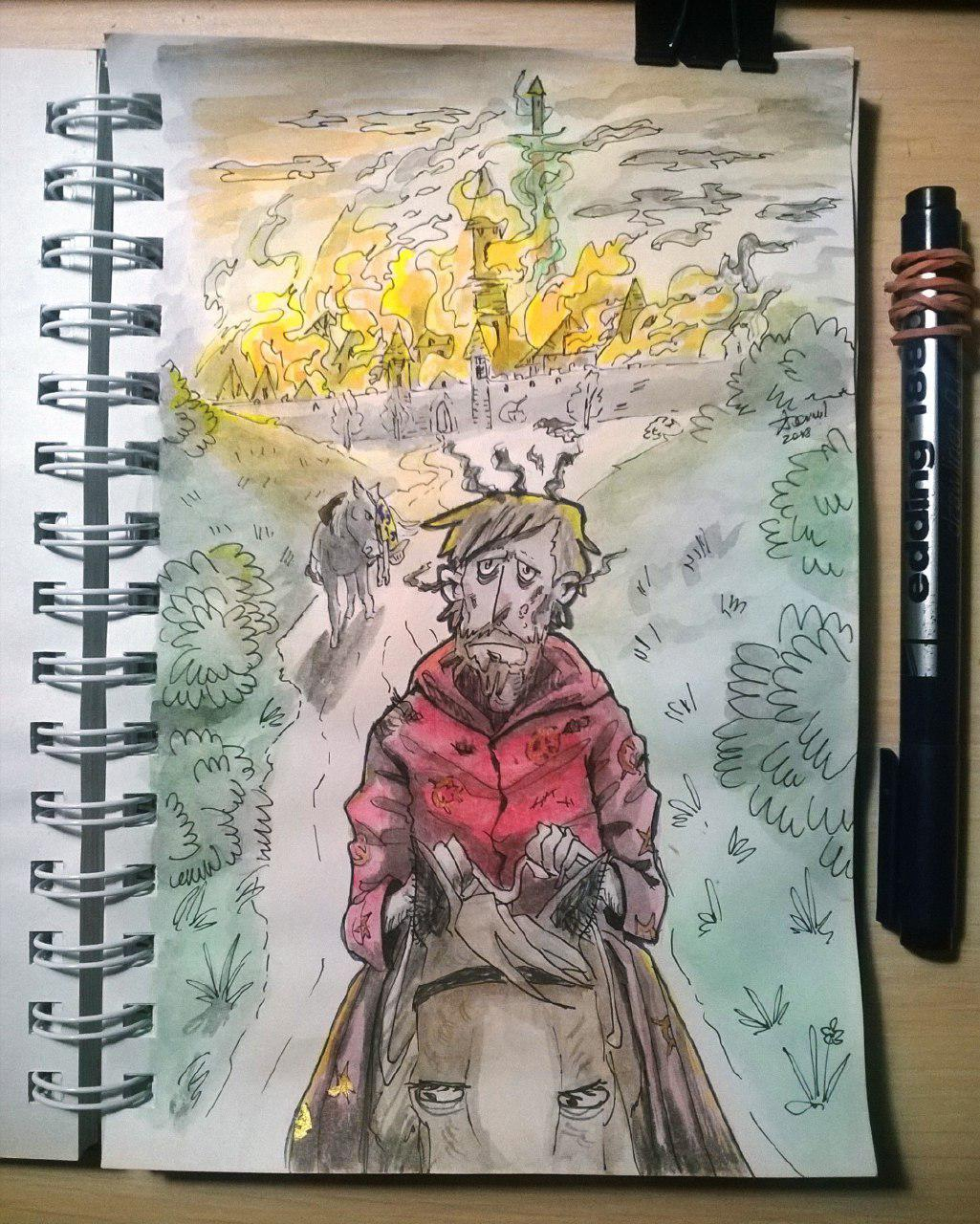 The Colour of Magic - Inktober2018, day 1