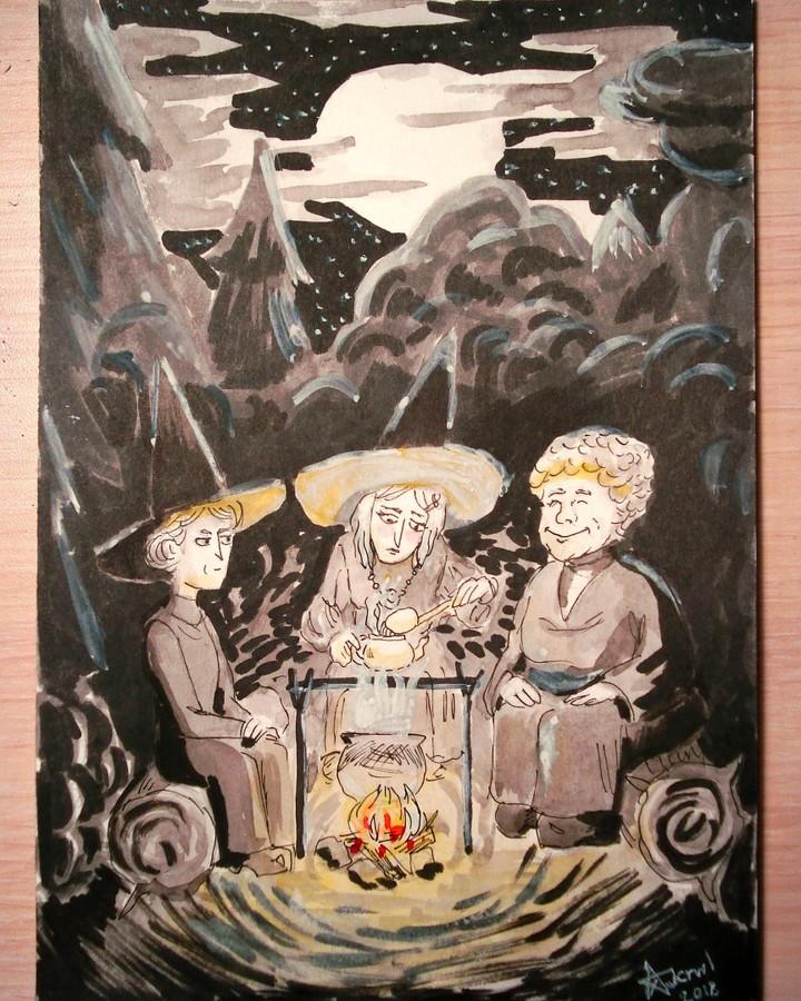 Wyrd Sisters - Inktober2018, day 6