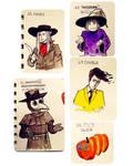 Misc tiny drawings - Inktober2018, 27-31