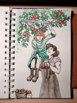 Apples, inktober 8/31