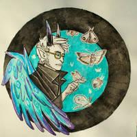 moths, inktober2019 16