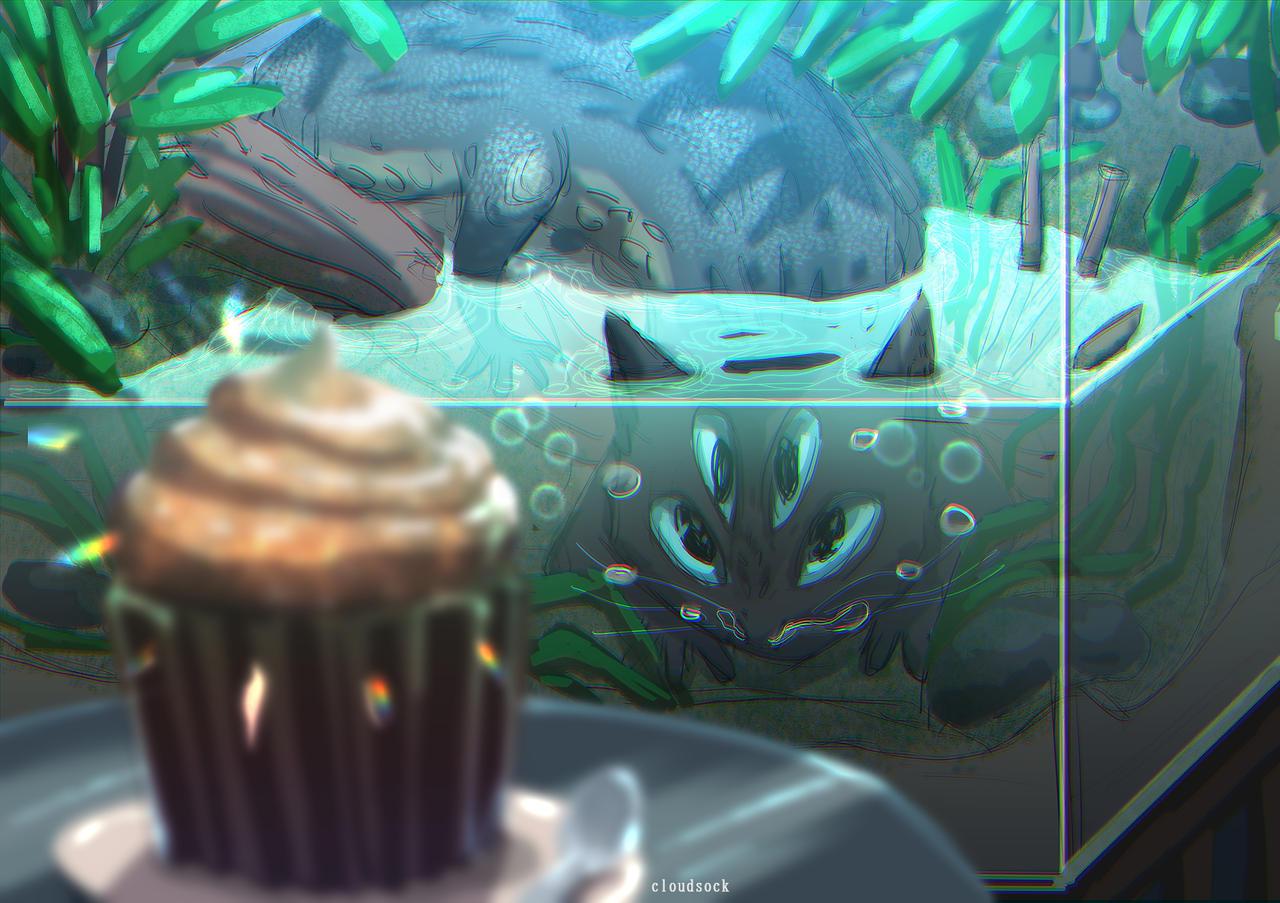 Monster Cupcake Terrarium