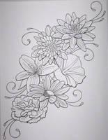 Flower Tattoo by DanielleHope