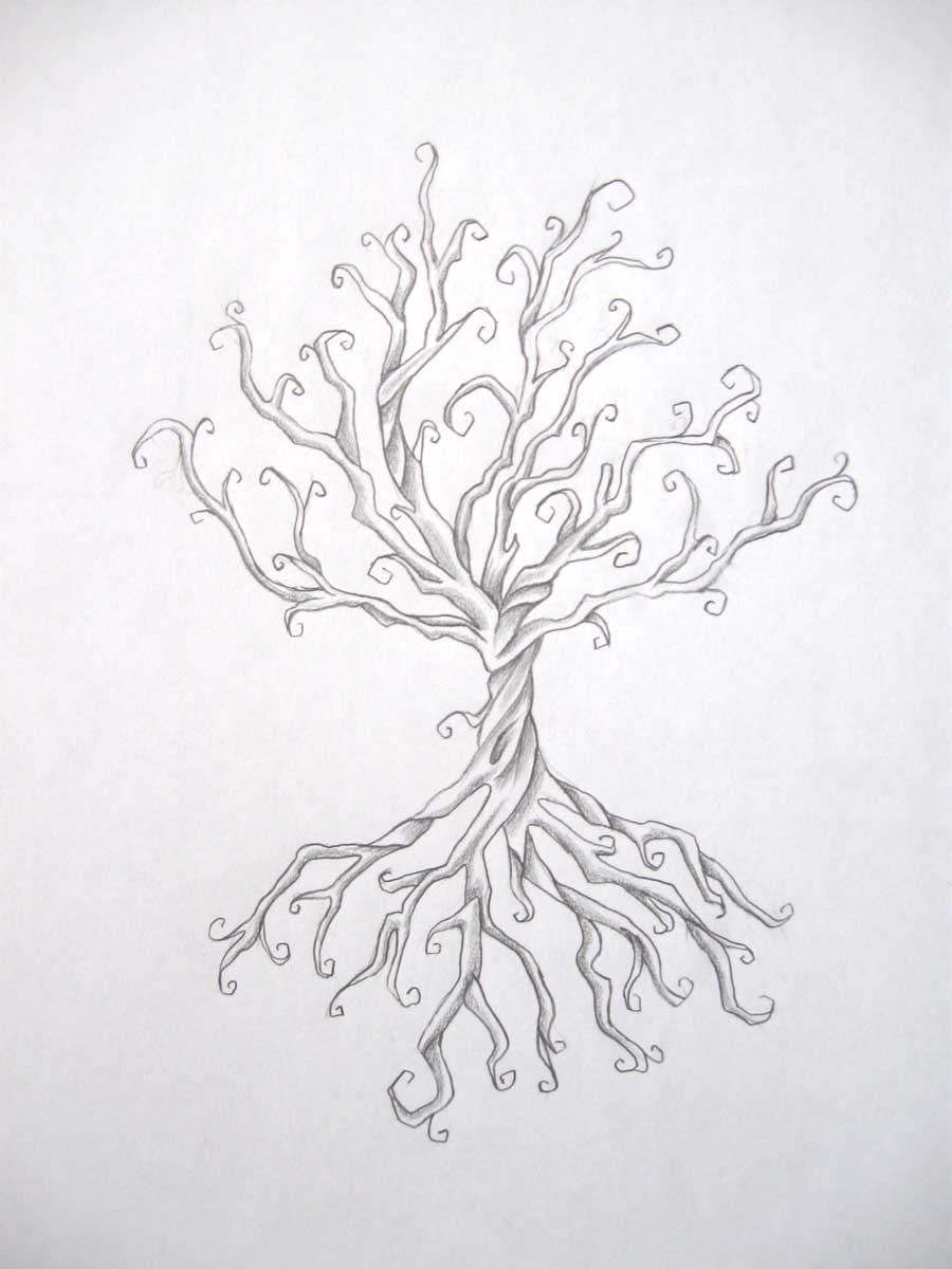 Drawing With Hidden Lines : Tree tattoo by daniellehope on deviantart