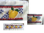 Apple and  Grape Kitchen Towel by SpitfireFae