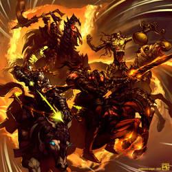 the Horsemen by Giye