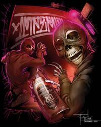Graffiti Skeleton Dudes