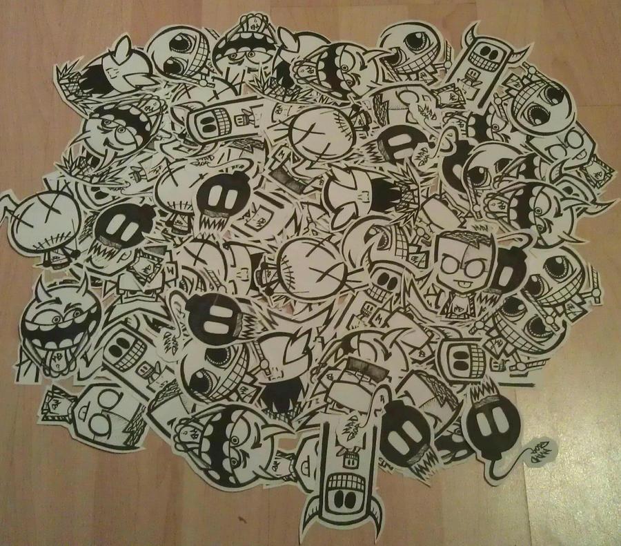 sticker bombing by madboy10