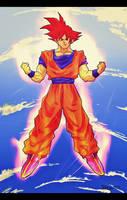 Dragonball Z - God Goku by xSABRiNAAA