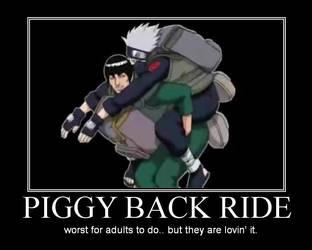 Naruto - Piggy Back Ride by evilselosa