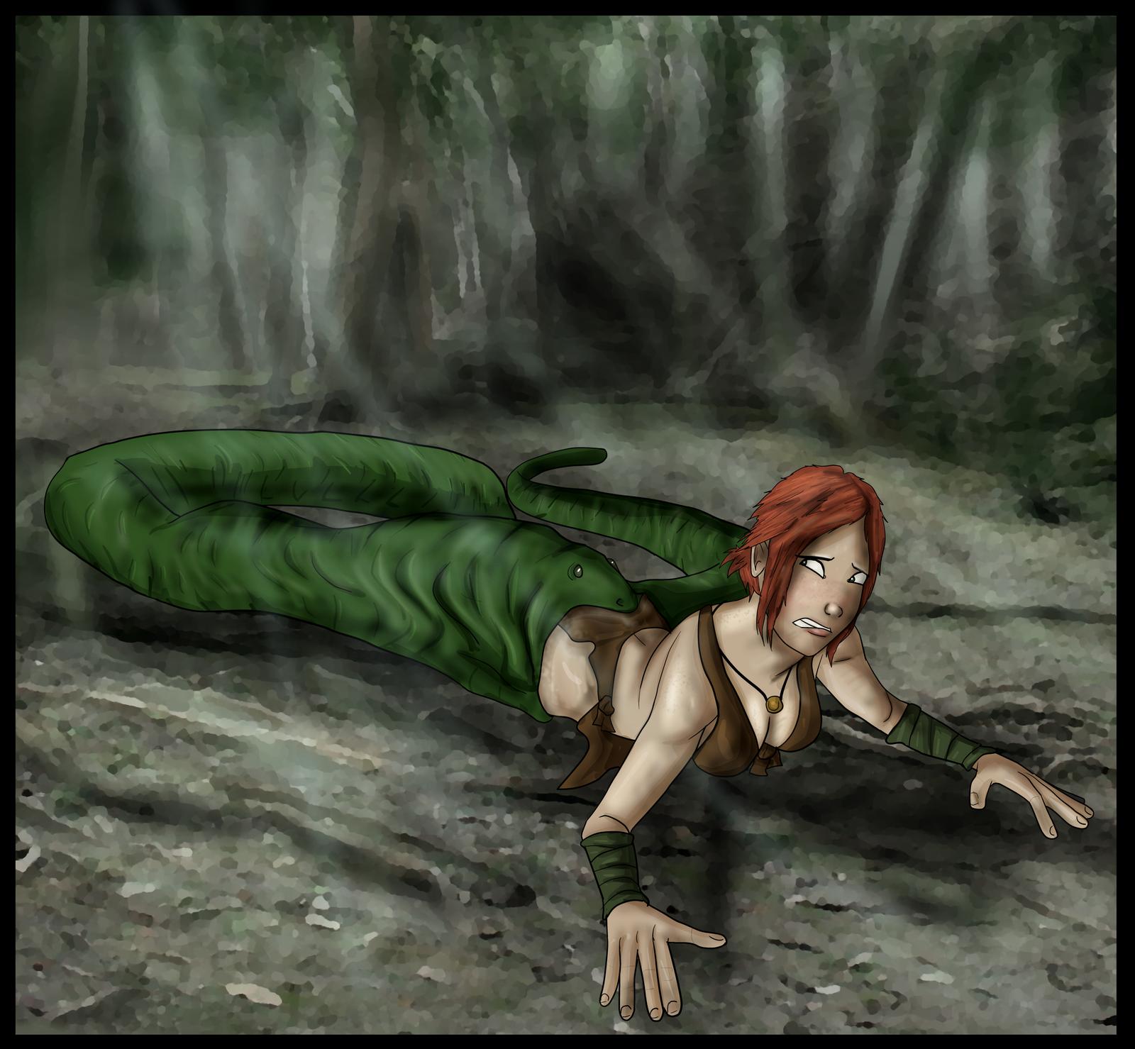 Jungle Girl Vs Snake by Pentahelix