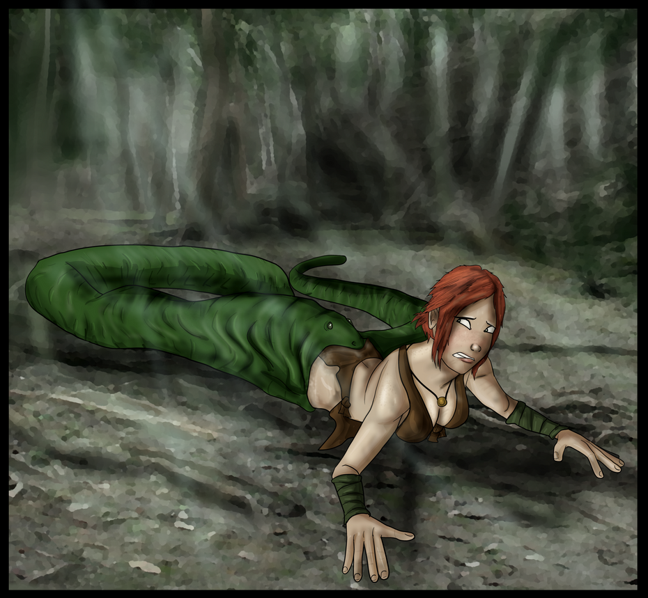 Jungle Girl Vs Snake by Pentahelix
