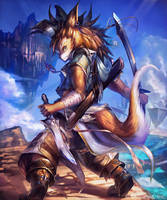 Wolf Fang Swordsman / Brave dog soldier by kazashino