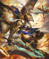Oathplume Warrior / Faithful Garuda (Evolved)