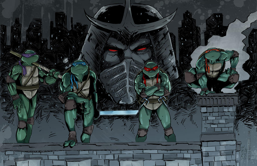TMNT Rooftop by Walter-Ostlie