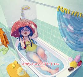 In my bathroom... by Nephyla
