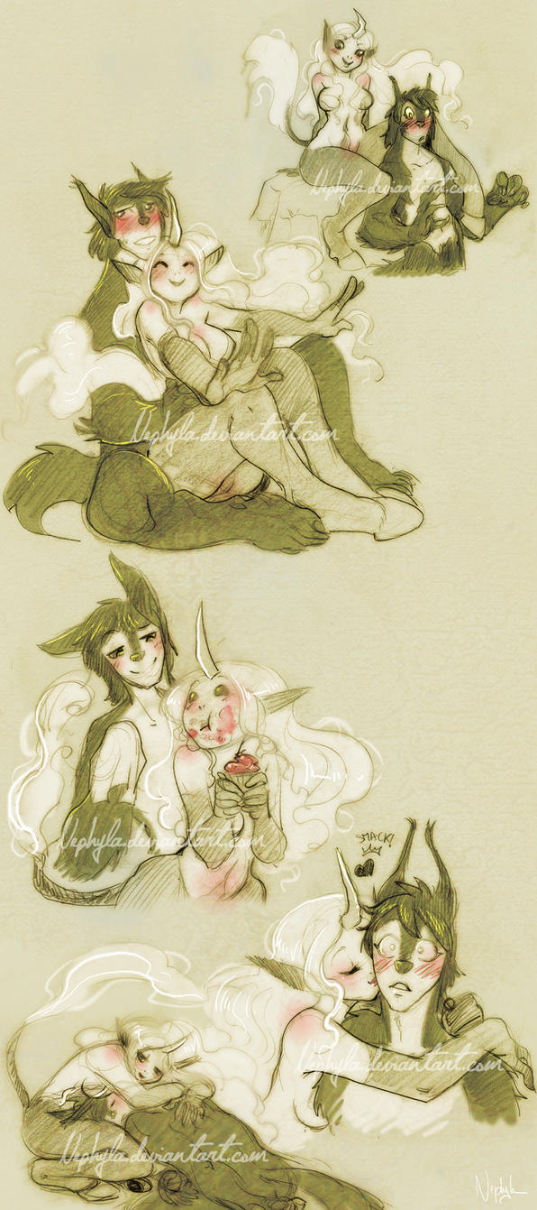 + COMMISSIONS+Tsurin and Lawrence by Nephyla