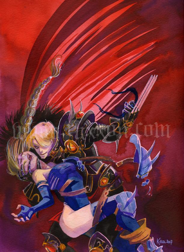 RAXXON-Mordrek and Mileena by Nephyla