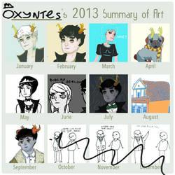 2013 Summary of Art by Mangomusher