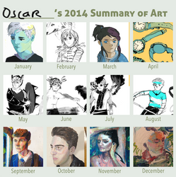 2014 summary of art by Mangomusher
