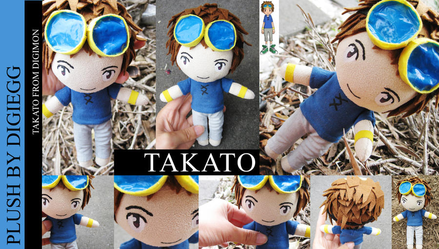 Takato Plushie - Digimon Tamers by plooshieS2