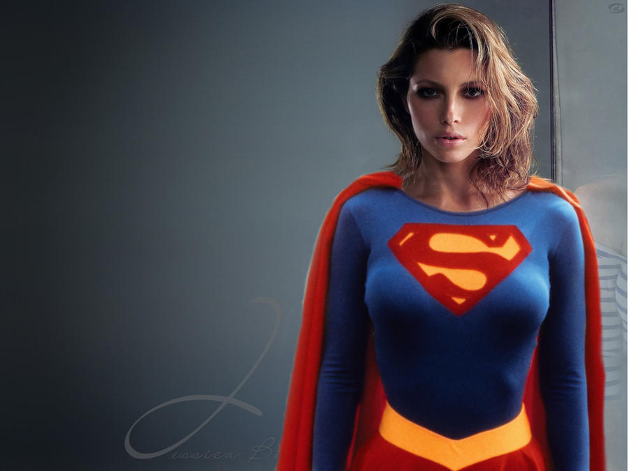 Jessica Biel as Supergirl by harrisonsparrow