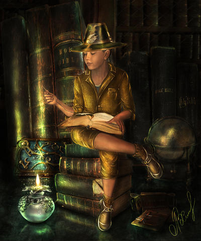 Knizhnyj gnome by lyuba-Viktoria