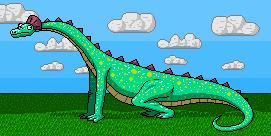 Cyanosaurus dot derp by shook12