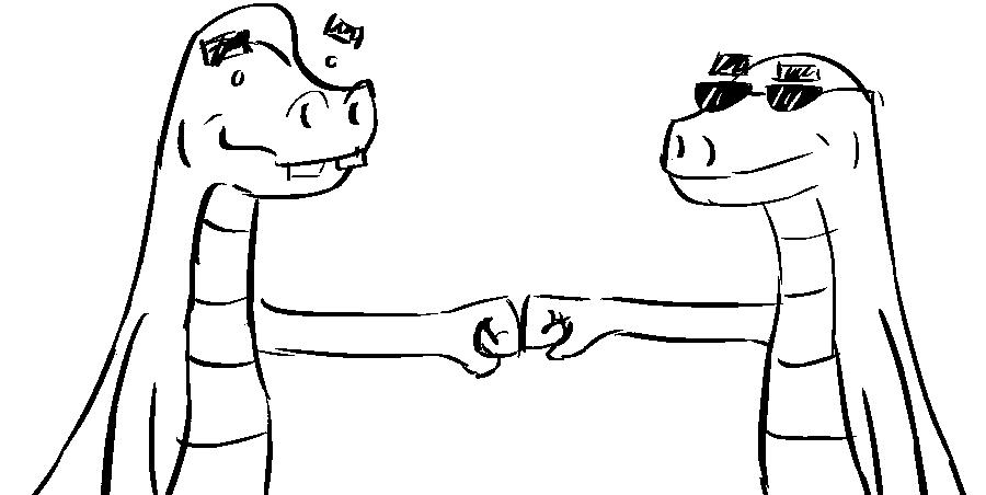 dinosaur brofist by shook12