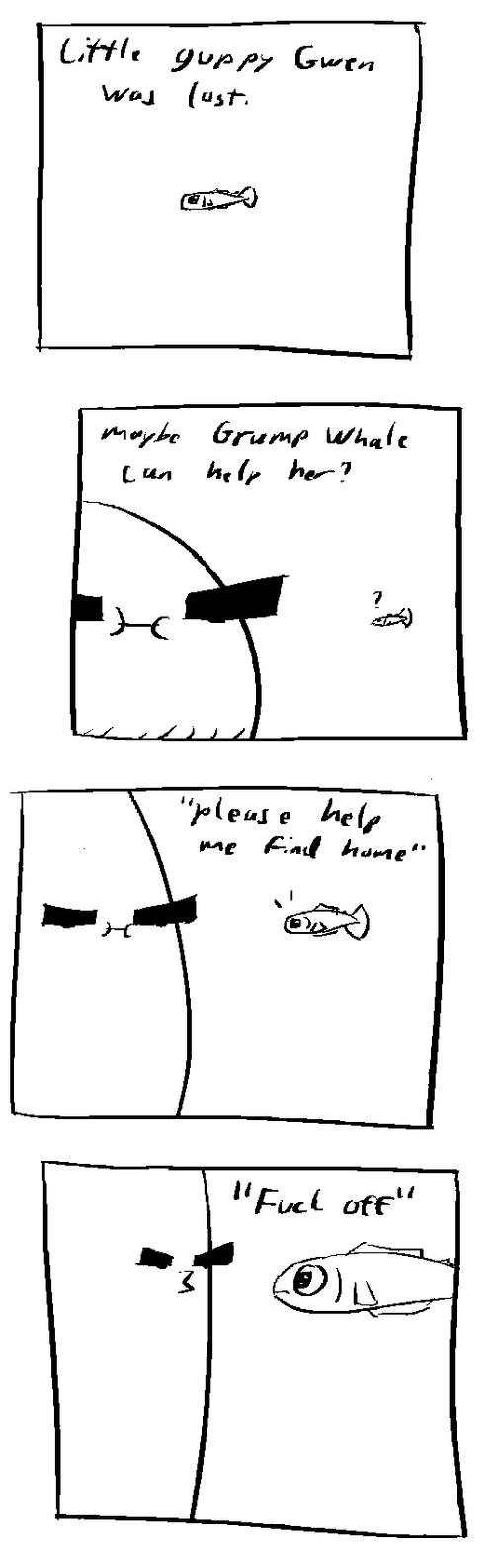 grump whale is helpful by shook12