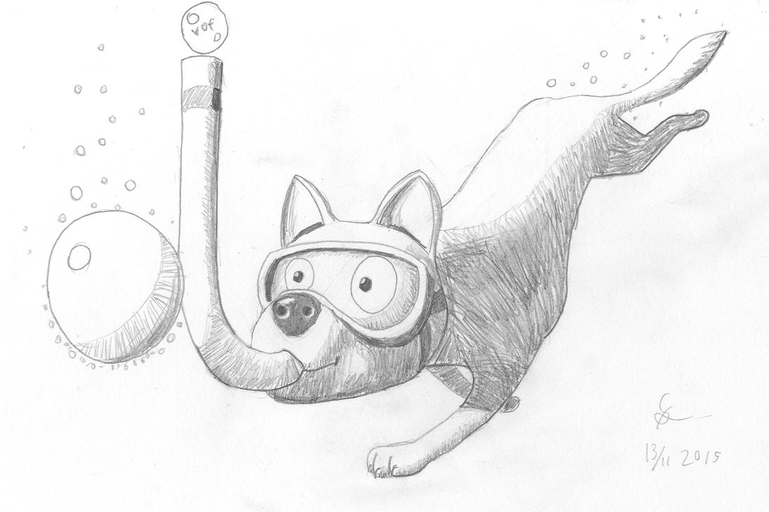 Snorkeldog by shook12