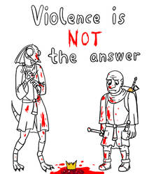 COM: violence ain't the answer yo by ComradeShook