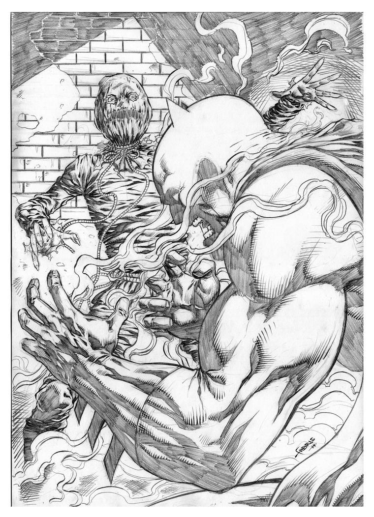 Batman vs Scarecrow by Fabiano-Ribeiro