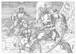 Wolverine and Psylocke vs Omega Red