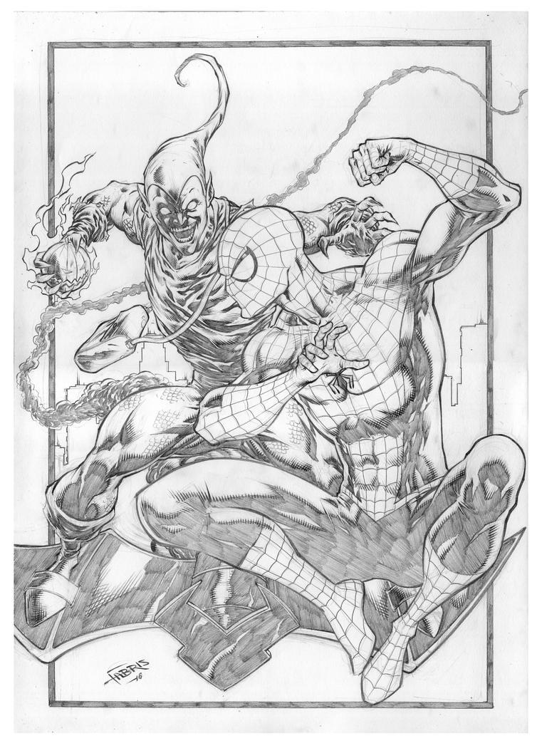 Spider-man vs Green Goblin by Fabiano-Ribeiro