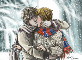 APH: First Kiss by Minuiko