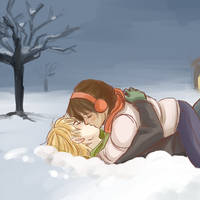 THG: snow kiss by Minuiko