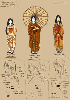 Yamani Ladies character design
