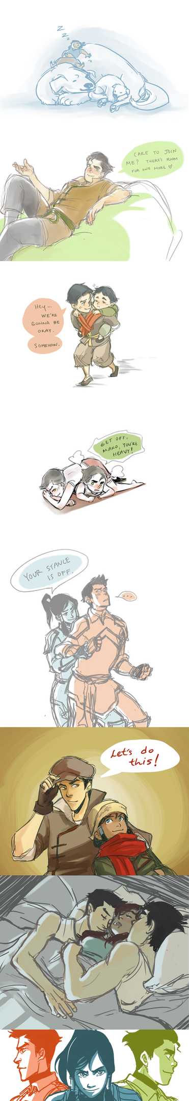 Korra: sketch dump 2 by Minuiko
