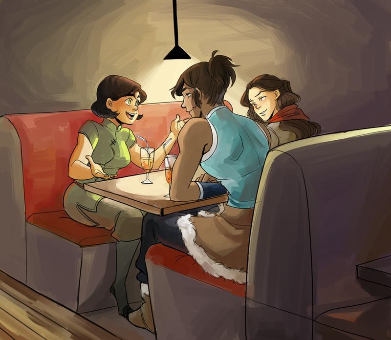 Commission for Neajea - Korra genderbends by Minuiko