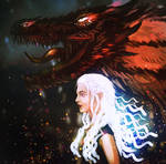 Daenerys and Drogon by JaiHirvi