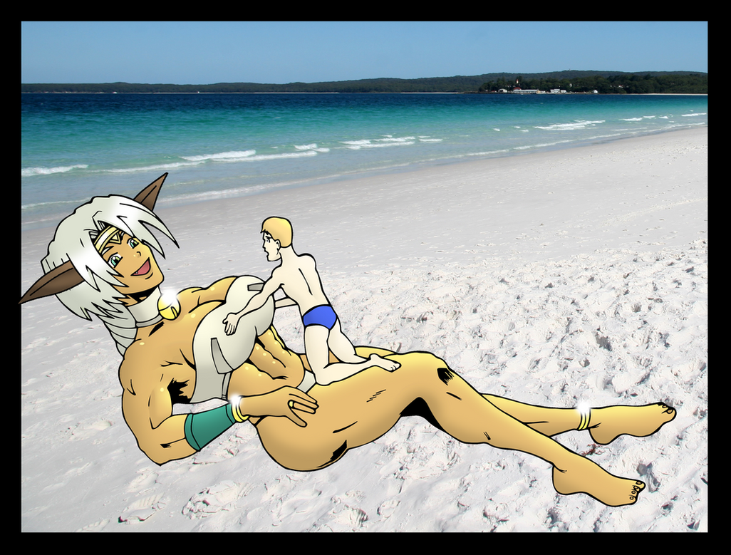 Aisha Clan Clan rests with a friend by MiniGtsLover