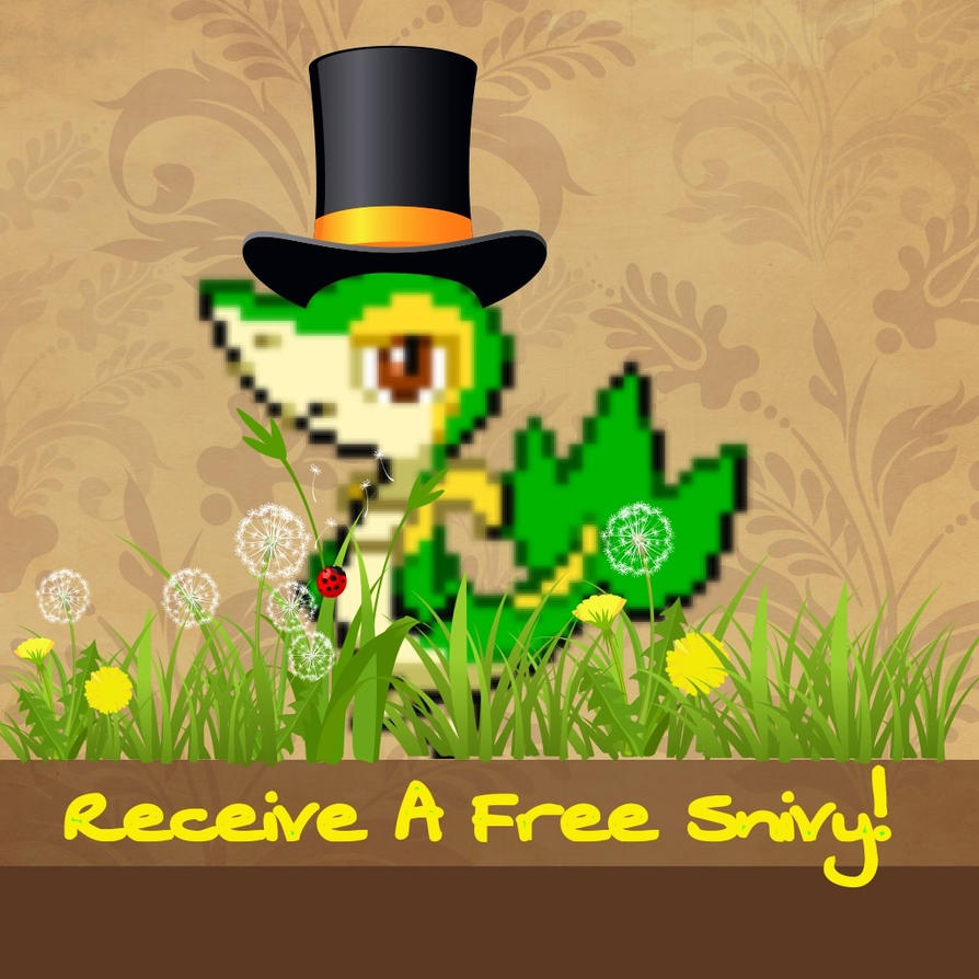 Receive a Free Snivy! by Aura-Aquia